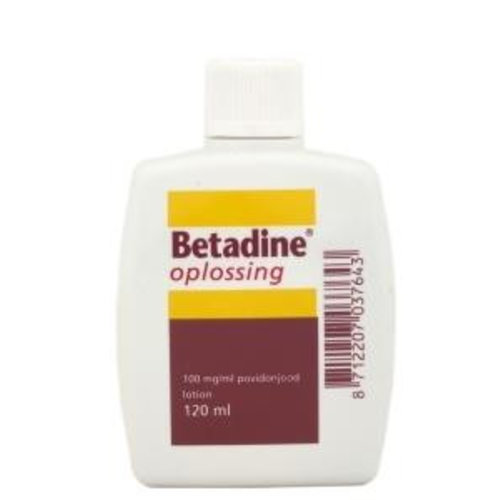 Betadine Betadine Jodium oplossing 100 mg/ml (120ml)