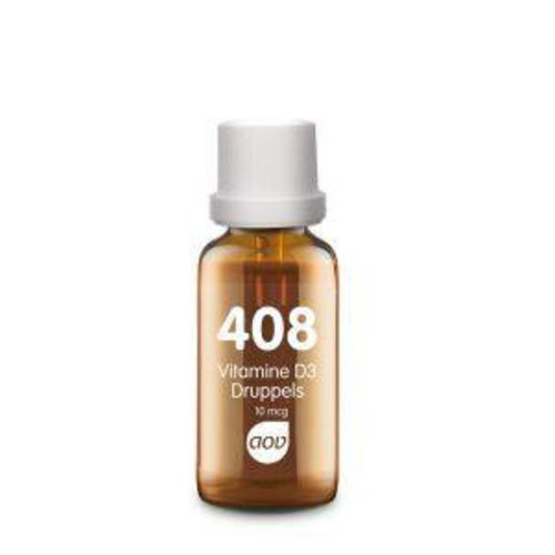 AOV 408 Vitamine D3 (Cholecalciferol) druppels 10 mcg (25ml)