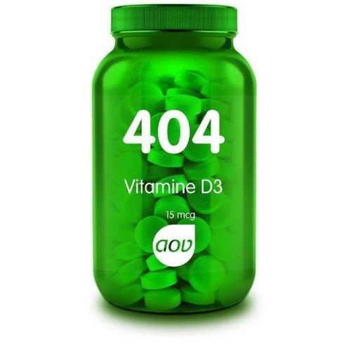AOV 404 Vitamine D3 (Cholecalciferol) 15 mcg (60tb)