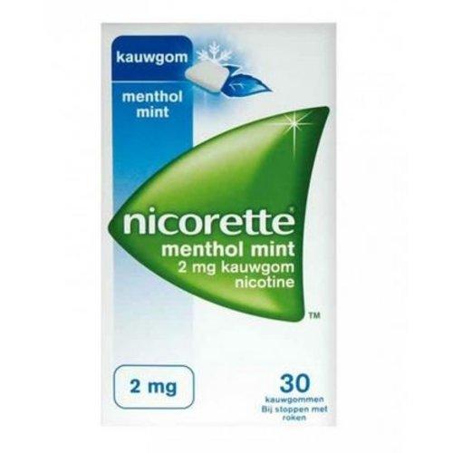 Nicorette Nicorette Kauwgom 2 mg menthol mint (30st)