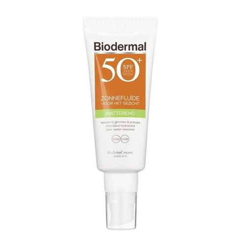 Biodermal Biodermal Matterende zonnefluid SPF50+ (40ml)