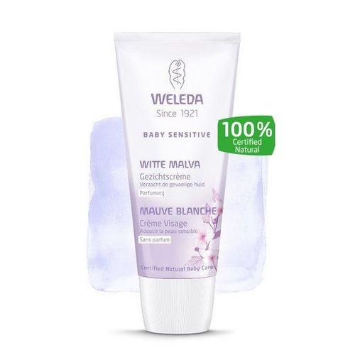 Weleda Weleda Baby witte malva sensitive gezichtscreme (50ml)