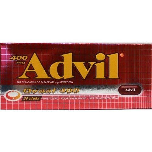 Advil 400 mg ovaal blister (20drg)