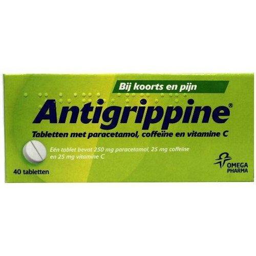 Antigrippine Paracetamol 250 mg + coffeine + vitamine C (40tb)