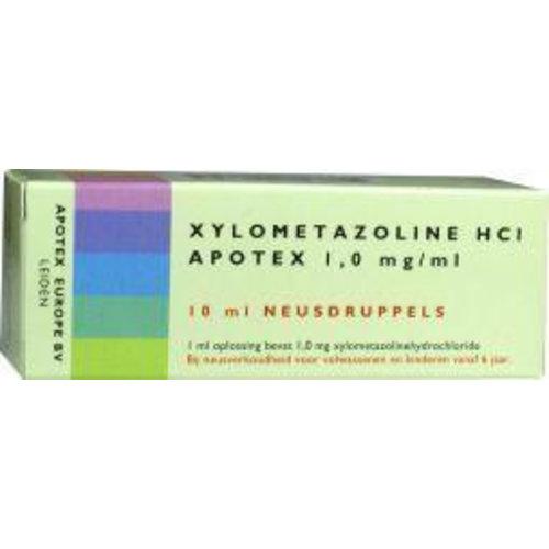 Apotex Apotex Xylometazoline HCI 1 mg druppels (10ml)