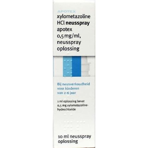 Apotex Apotex Xylometazoline HCI 0.5 mg spray (10ml)