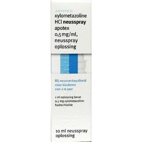 Apotex Xylometazoline HCI 0.5 mg spray (10ml)