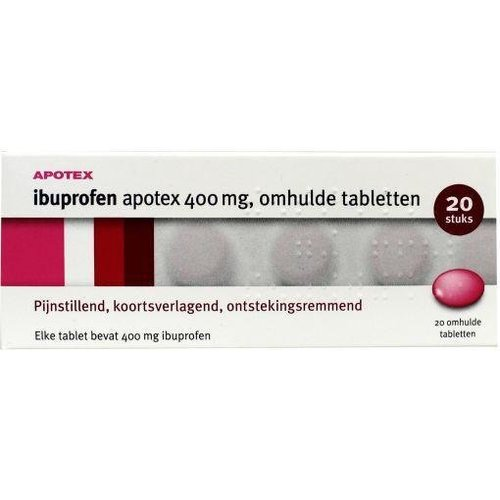 Apotex Ibuprofen 400 mg (20drg)