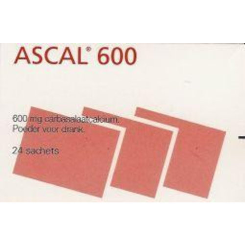 Ascal Carbasalaatcalcium 600 mg (24st)