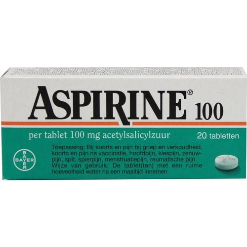 Aspirine Acetylsalicylzuur 100 mg (20tb)