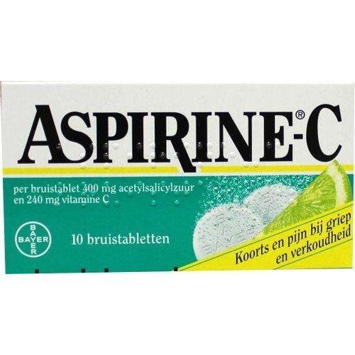 Aspirine Acetylsalicylzuur + vitamine C (10brt)