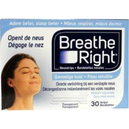 Breathe Right Breathe Right Neusstrips clear (30st)