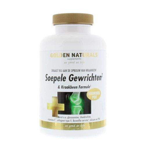 Golden Naturals Soepele gewrichten en kraakbeen (180tb)