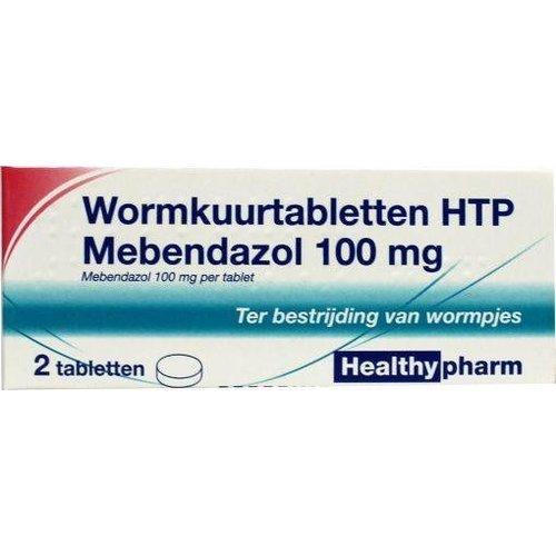 Healthypharm Healthypharm Mebendazol / wormkuur (2tb)