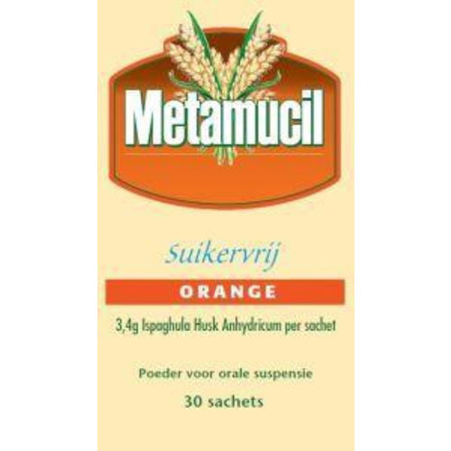 Metamucil Orange suikervrij (30sach)