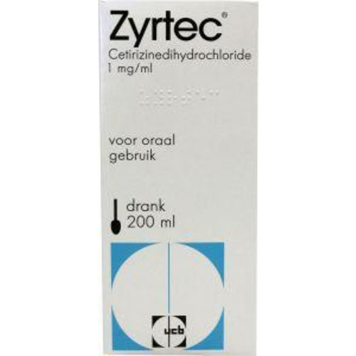 Zyrtec Cetirizine drank 1 mg/ml (200ml)
