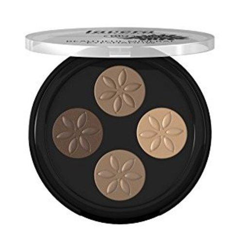 Lavera Lavera Eyeshadow beautiful quattro capuccino cream 02 (4x0.8g)