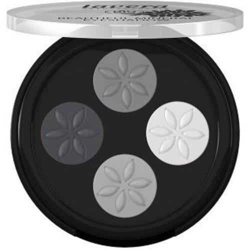 Lavera Lavera Eyeshadow beautiful mineral quattro smoky grey 01 (4x0.8g)