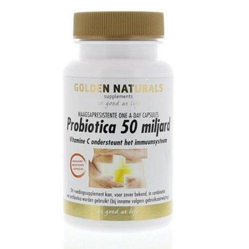 Golden Naturals Probiotica 50 miljard (14ca)