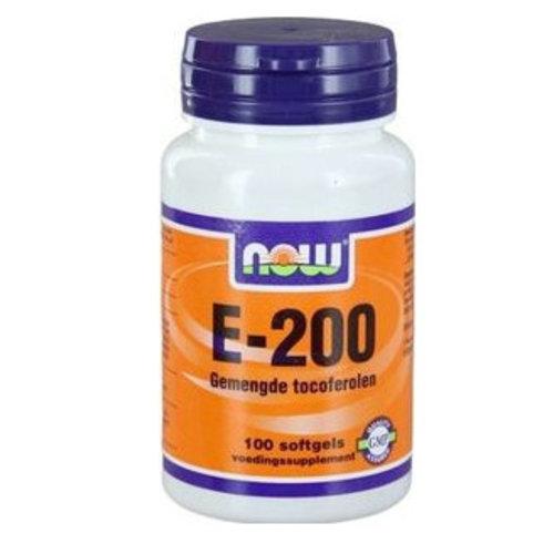 NOW NOW Vitamine E-200 natuurlijke gemengde tocoferolen (100sft)