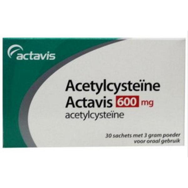 Acetylcysteine 600 mg sachets Bij Vastzittend Slijm (30x3g)