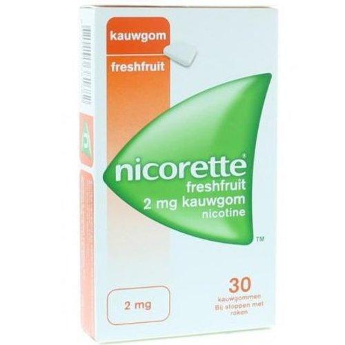 Nicorette Nicorette Kauwgom 2 mg freshfruit (30st)