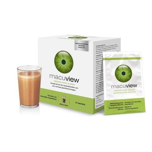 Macuview Macuview Voeding voor je ogen choco twist (14 sachets)