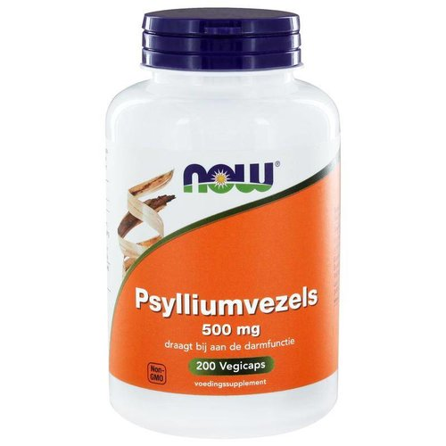 NOW NOW Psylliumvezels 500 mg (200 vcaps)