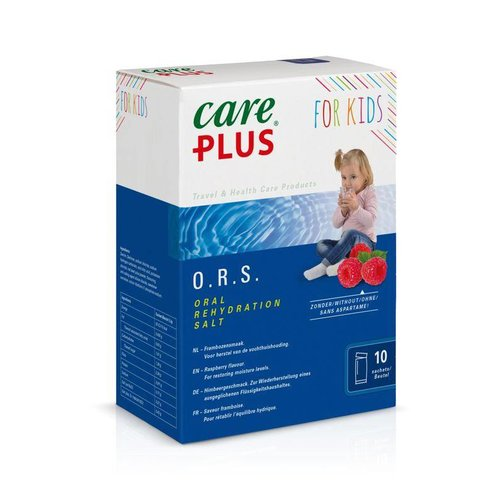 Care Plus Care Plus ORS kind framboos (10 stuks)