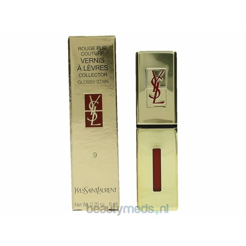 Yves Saint Laurent YSL Rouge Pur Couture Vernis A Levres Glossy Stain (6ml) #09 Rouge Laque