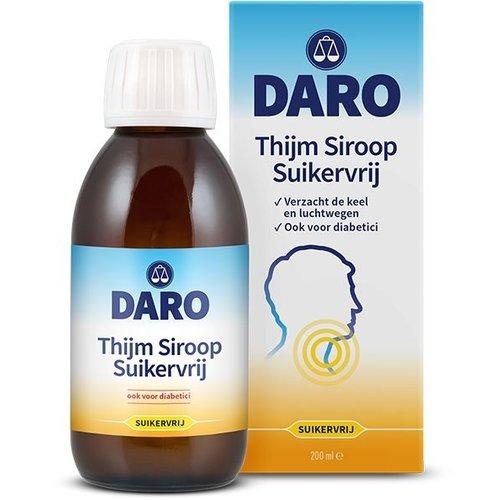 Daro Daro Thijmsiroop suikervrij (200ml)