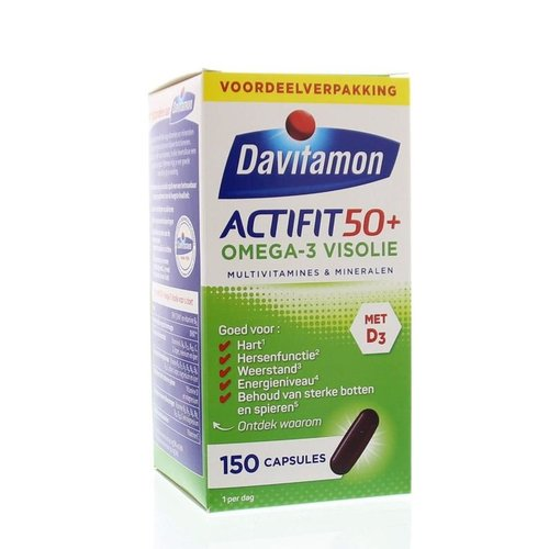 Davitamon Actifit 50+ omega 3 (150ca)