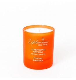 Zephorium Soul Tonic Carnelian Crystal Affirmation Candle