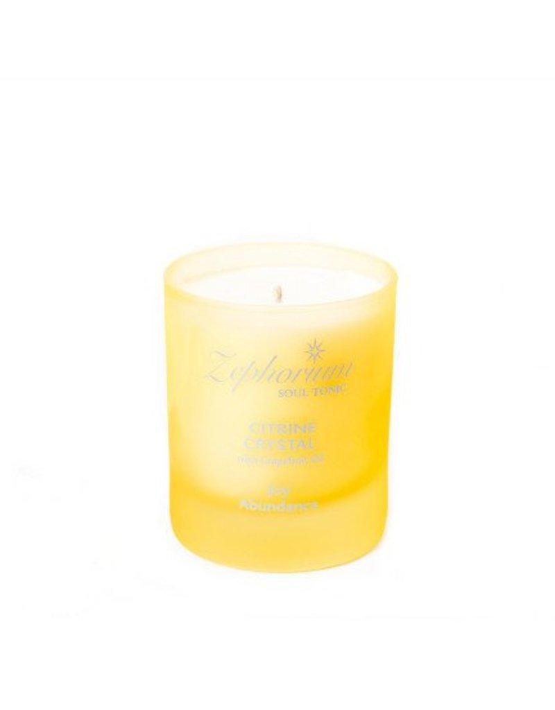 Zephorium Soul Tonic Citrine Crystal Affirmation Candle