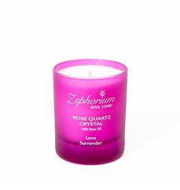 Zephorium Soul Tonic Rose Quartz Crystal Affirmation Candle