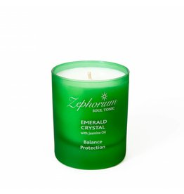 Zephorium Soul Tonic Emerald Crystal Affirmation Candle
