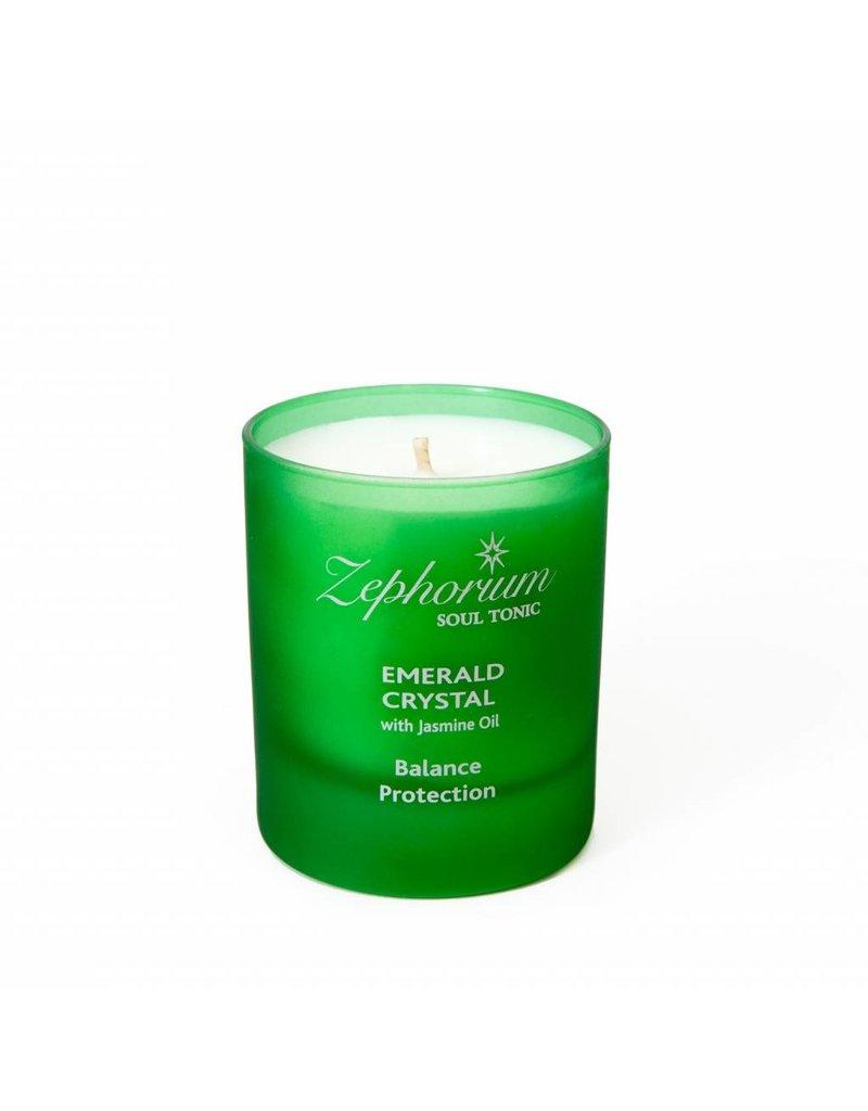 Zephorium Soul Tonic Emerald Crystal Affirmation Candle