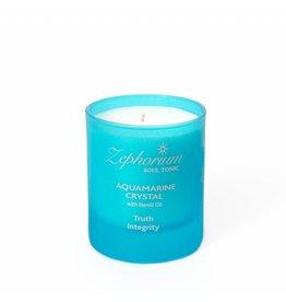Zephorium Soul Tonic Aquamarine Crystal Affirmation Candle
