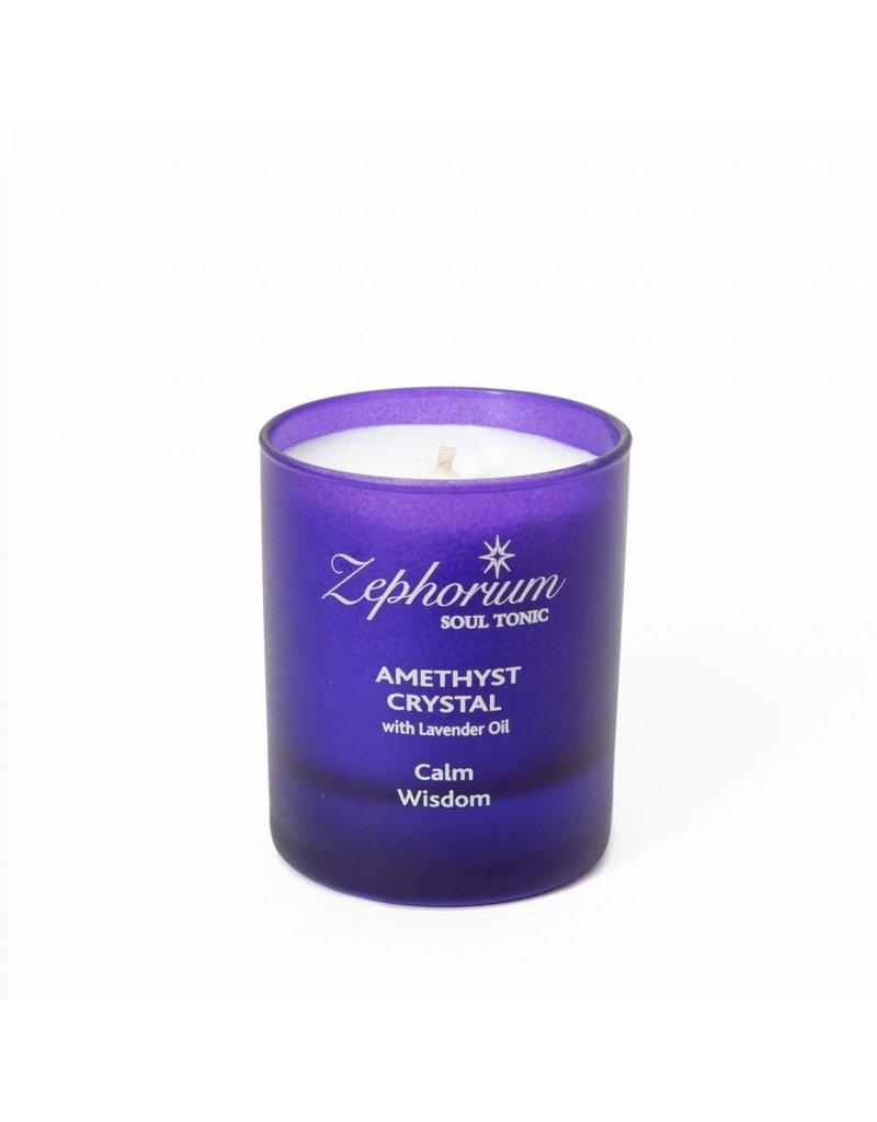 Zephorium Soul Tonic Amethyst Crystal Affirmation Candle