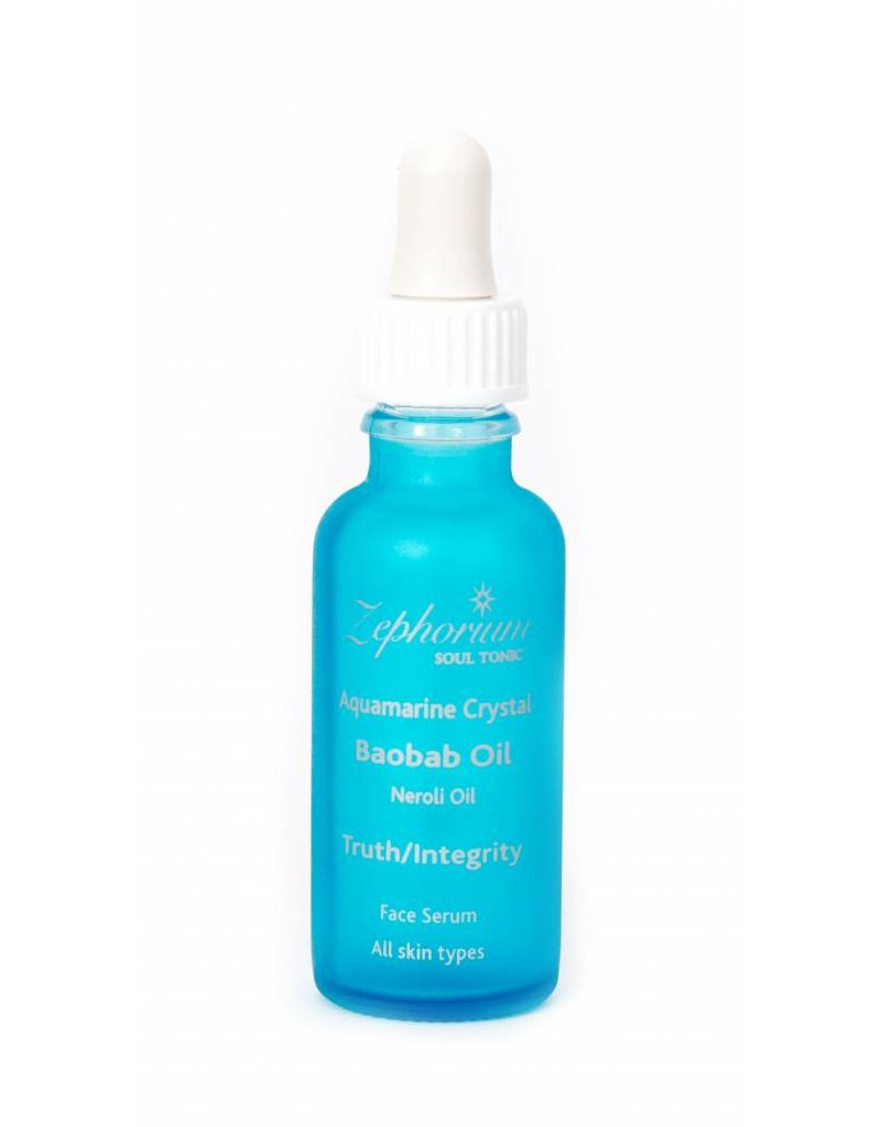 Zephorium Soul Tonic Aquamarine Crystal Face Serum 30ml (All Skin Types)