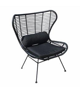 4 Seizoenen Tuinmeubelen Larvik luxe dining tuin- en binnenstoel (Black)