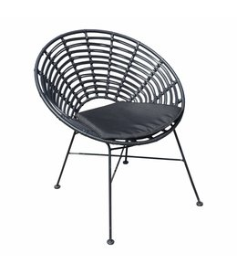 4 Seizoenen Tuinmeubelen Mandal dining tuin- en binnenstoel (Black)