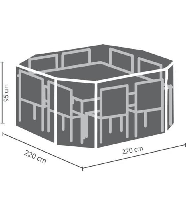 Outdoor Covers Tuinset beschermhoes 8-hoek 220x220x95 cm