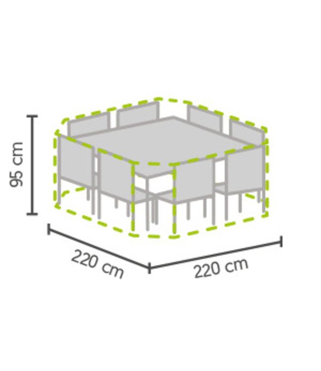 Outdoor Covers Tuinset beschermhoes 8-hoek 220x220x95cm