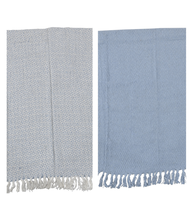 Lesli Living Plaids Linnen/Blauw 125x150cm | set van 2 stuks | Lesli Living