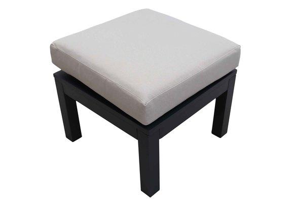 Hocker Bezano   Matt Black/Off White   Aluminium