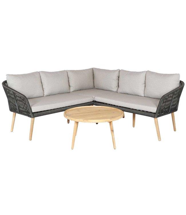 Eurofar Garden Furniture Hoek Loungeset Altea | Olive Green | Touw/Rope | Eurofar