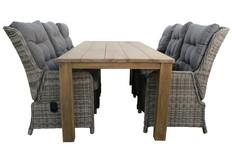 7-delige tuinset | 6 Dublin verstelbare stoelen | 240cm Ayra tuintafel