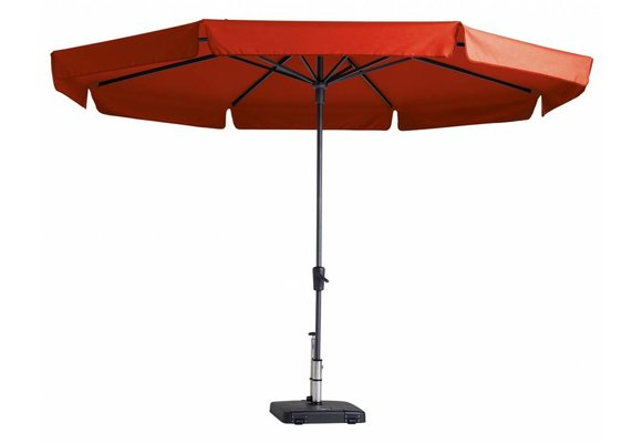 Madison Parasol | Syros Luxe Round | Brick Red | ∅350cm
