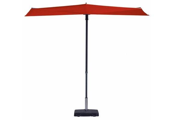 Madison Parasol | Sun Wave | Brick Red | 270x150cm